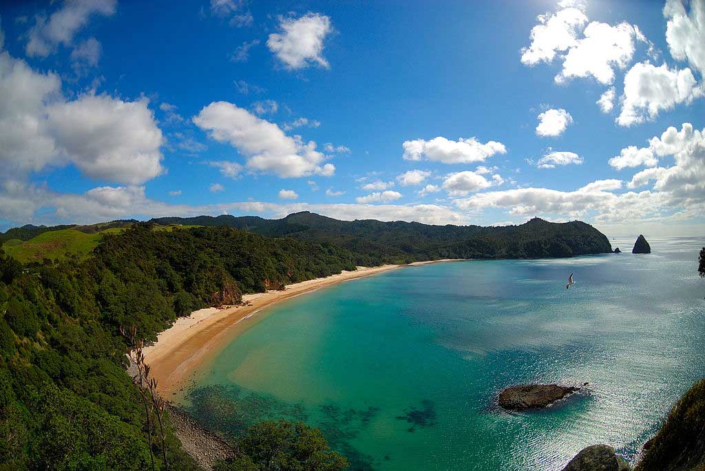 New Chums Beach in New Zealand