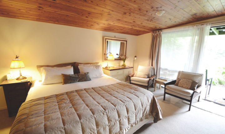 View of a double room at the wairua lodge