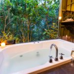 Image of our private treetop bath-house