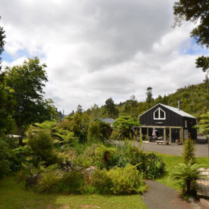 View of the backgarden at the wairua lodge
