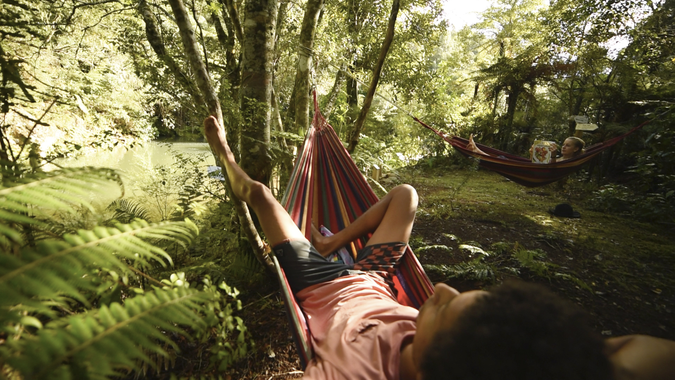 Wairua Lodge - Discover our Rainforest Trails and relax in our Hammocks near the swimming hole