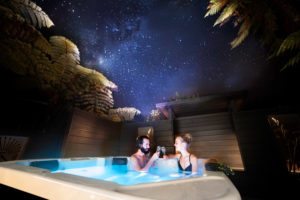 night sky spa pool