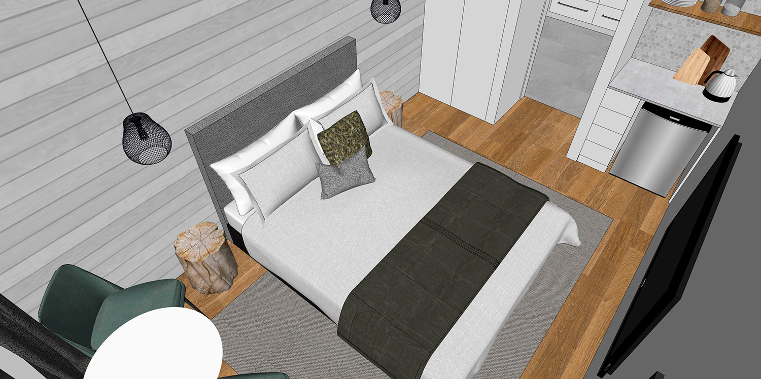 3D Preview of the new rooms, which will be built may-july 2019