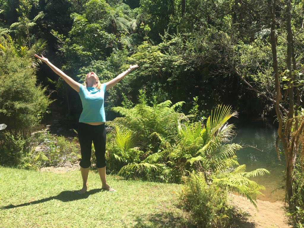 Hannah McQuilkan's first 3-day Forest Bathing Workshop here at Wairua Lodge