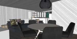 New Building phase at Wairua Lodge in Winter 2020 - The Kiwi Apartment - living room