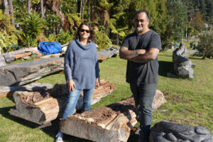 Joe Kemp (right) and Debbie from Wairua Lodge