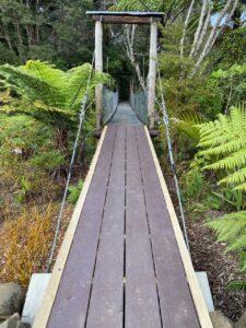 Bridge with the new ramp, Neue Rampe zur Brucke