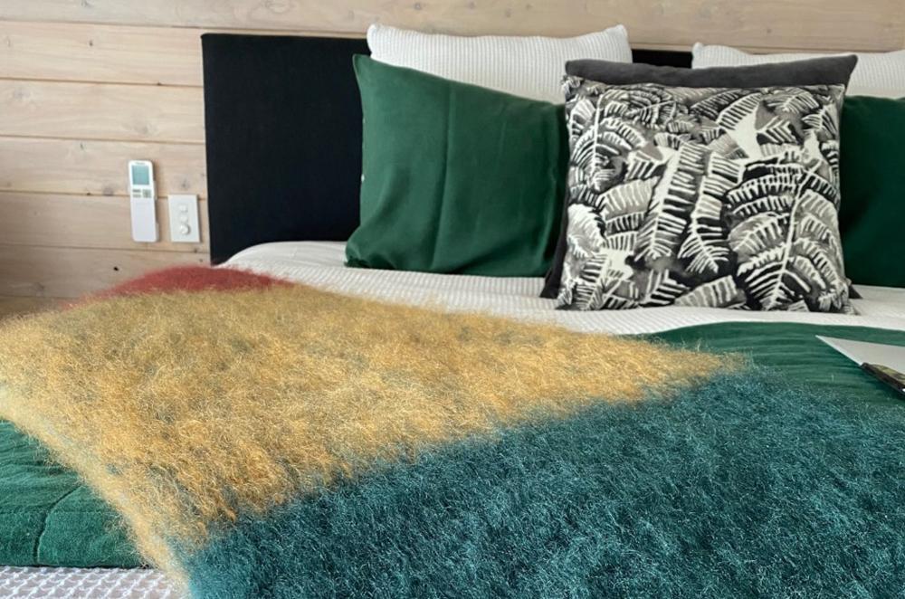 Wonderful Throws made by Masterweave Textiles at Wairua Lodge