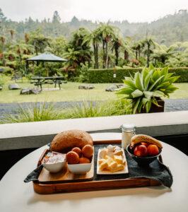Wairua Lodge Breakfast in front of your room