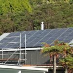 Sustainable Solar Power installation in the rainforest on rooftop at Wairua Lodge - Whitianga, NZ